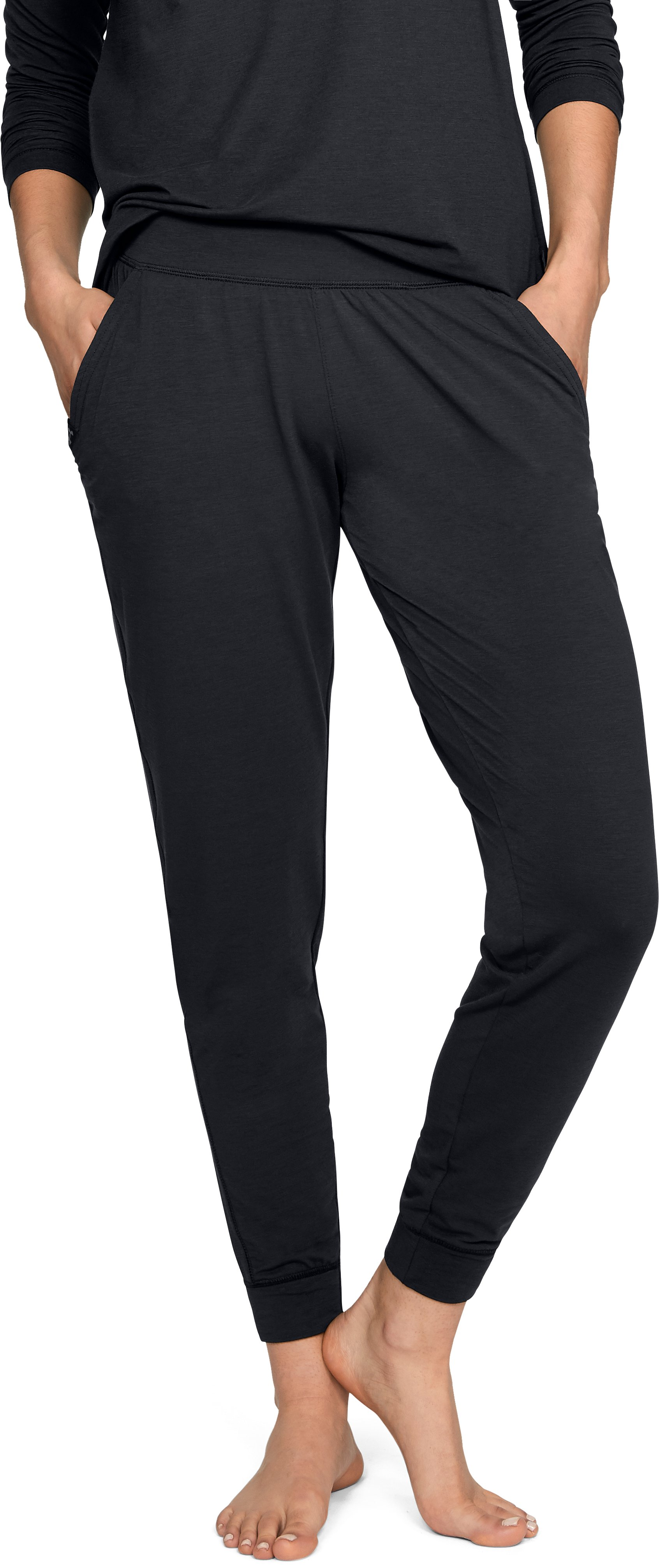 Women's Athlete Recovery Sleepwear Joggers, Black ,