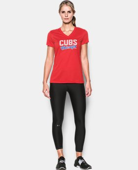 New Arrival Women's Chicago Cubs UA Tech™ V-Neck T-Shirt  1 Color $34.99