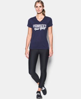 Women's New York Yankees UA Tech™ V-Neck T-Shirt  1  Color Available $26.24