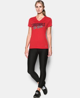 New Arrival Women's St. Louis Cardinals UA Tech™ V-Neck T-Shirt  1 Color $34.99