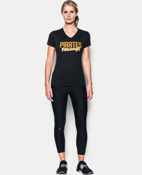 Women's Pittsburgh Pirates UA Tech™ V-Neck T-Shirt  1  Color Available $26.24