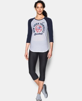 New Arrival Women's New York Yankees 3/4 Sleeve T-Shirt  1 Color $34.99