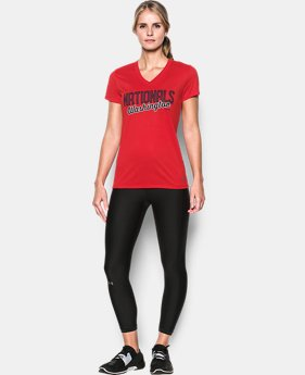 Women's Washington Nationals UA Tech™ V-Neck T-Shirt  1 Color $34.99