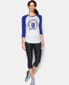 Women's Kansas City Royals ¾ Sleeve T-Shirt  1  Color Available $34.99