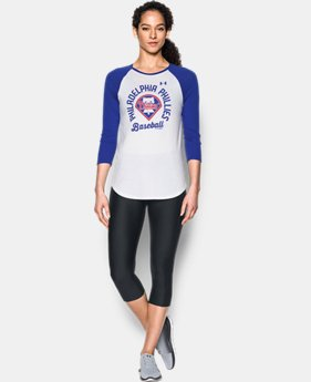 Women's Philadelphia Phillies 3/4 Sleeve T-Shirt  1 Color $34.99