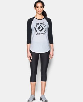 New Arrival Women's Chicago White Sox 3/4 Sleeve T-Shirt  1 Color $34.99