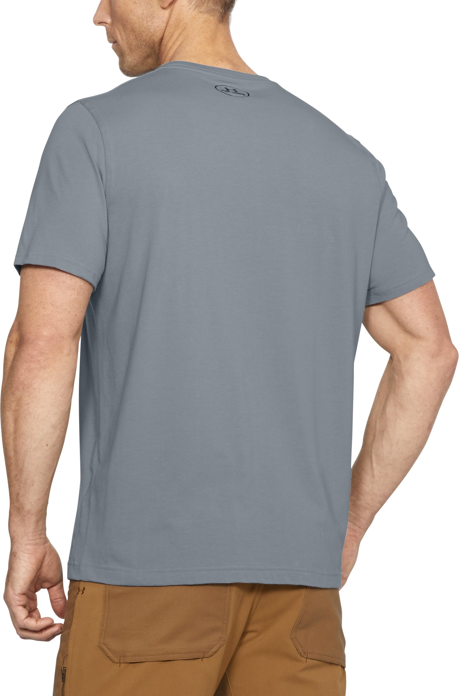 Men's Outdoor Stacked T-Shirt, Steel, undefined