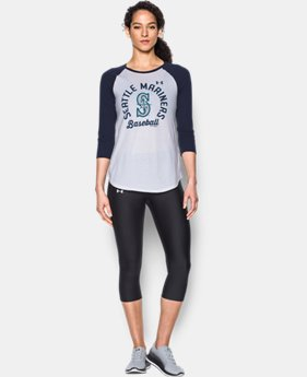 New Arrival Women's Seattle Mariners 3/4 Sleeve T-Shirt  1 Color $34.99