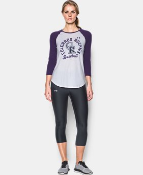 New Arrival Women's Colorado Rockies 3/4 Sleeve T-Shirt  1 Color $34.99