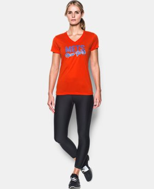 New Arrival Women's New York Mets UA Tech™ V-Neck T-Shirt  1 Color $34.99
