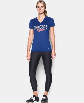 Women's Texas Rangers UA Tech™ V-Neck T-Shirt LIMITED TIME: FREE U.S. SHIPPING 1  Color Available $34.99
