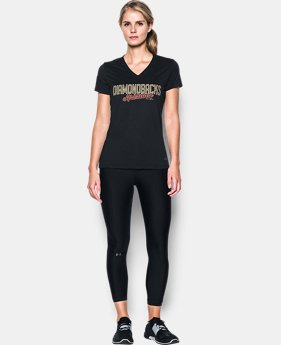New Arrival Women's Arizona Diamondbacks UA Tech™ V-Neck T-Shirt  1 Color $34.99