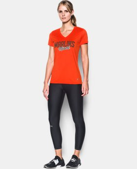 New Arrival Women's Miami Marlins UA Tech™ V-Neck T-Shirt  1 Color $34.99