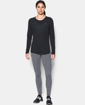 Women's UA Threadborne Long Sleeve Crew  1  Color Available $40