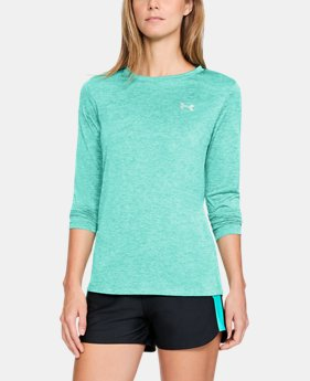 Women's UA Tech™ Twist Crew Long Sleeve  2  Colors Available $29.99