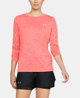 Women's UA Tech™ Twist Crew Long Sleeve FREE U.S. SHIPPING 1  Color Available $29.99