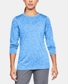 Women's UA Tech™ Twist Crew Long Sleeve  1 Color $29.99