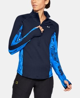 New Arrival Women's ColdGear® Armour Printed ½ Zip  2 Colors $64.99