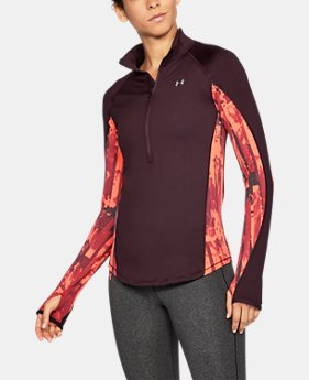 New Arrival Women's ColdGear® Armour Printed ½ Zip  3 Colors $64.99