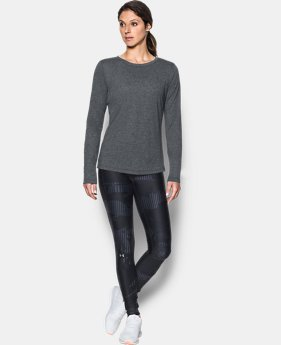 Women's UA Threadborne™ Twist Long Sleeve Crew  1  Color $40