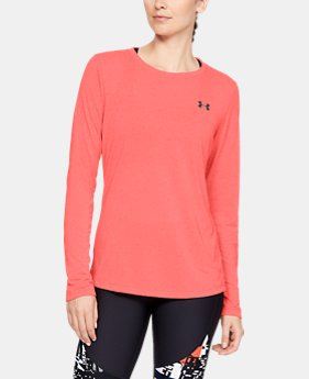 Women's UA Threadborne™ Twist Long Sleeve Crew  1  Color Available $40