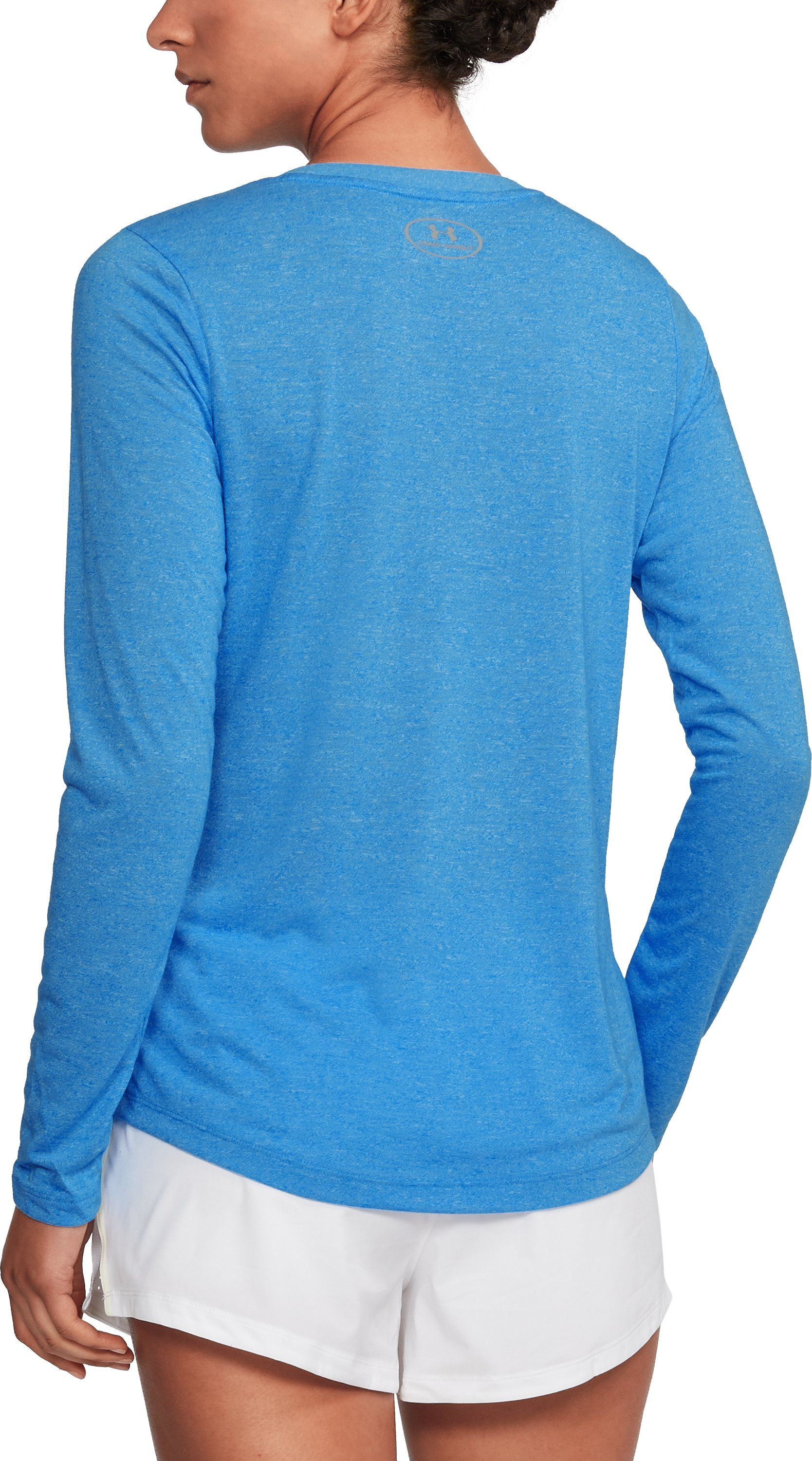 Women's UA Threadborne™ Twist Long Sleeve Crew, MAKO BLUE,