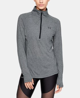 Women's UA Threadborne™ Twist ½ Zip LIMITED TIME: FREE SHIPPING 1  Color Available $59.99