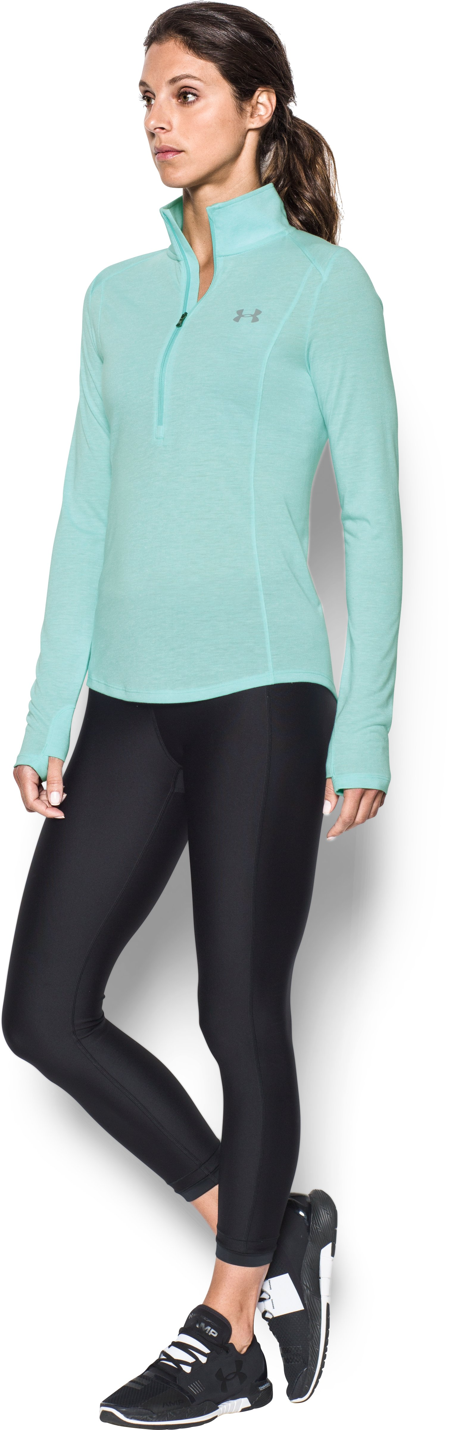 Women's UA Threadborne™ Twist ½ Zip, BLUE INFINITY,