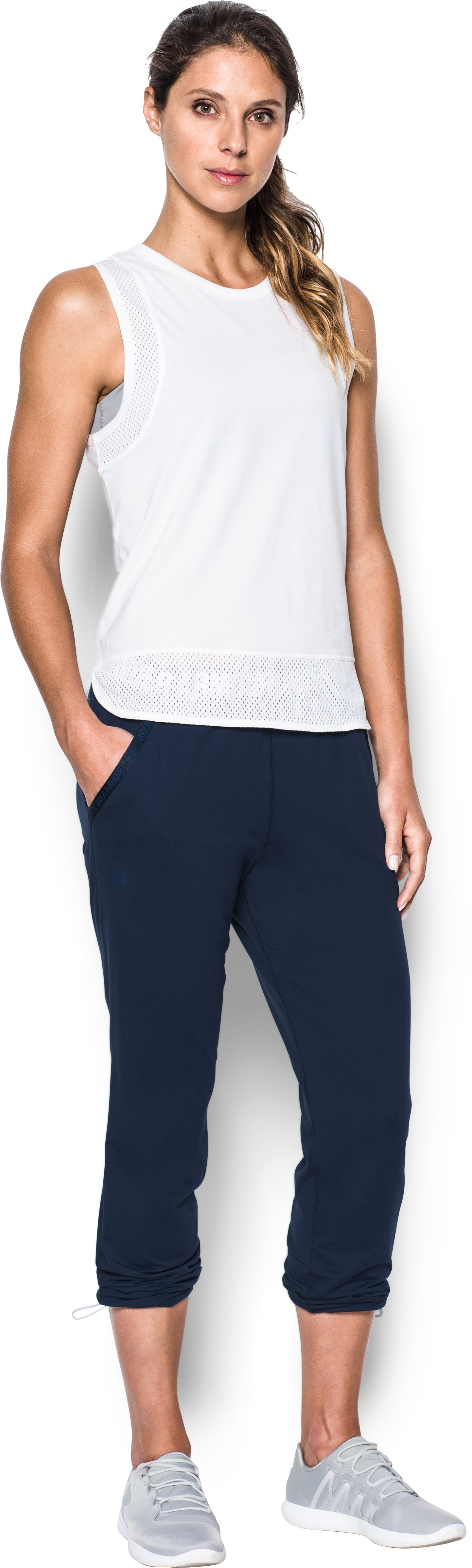 Women's UA Uptown Knit Jogger, Midnight Navy, Front