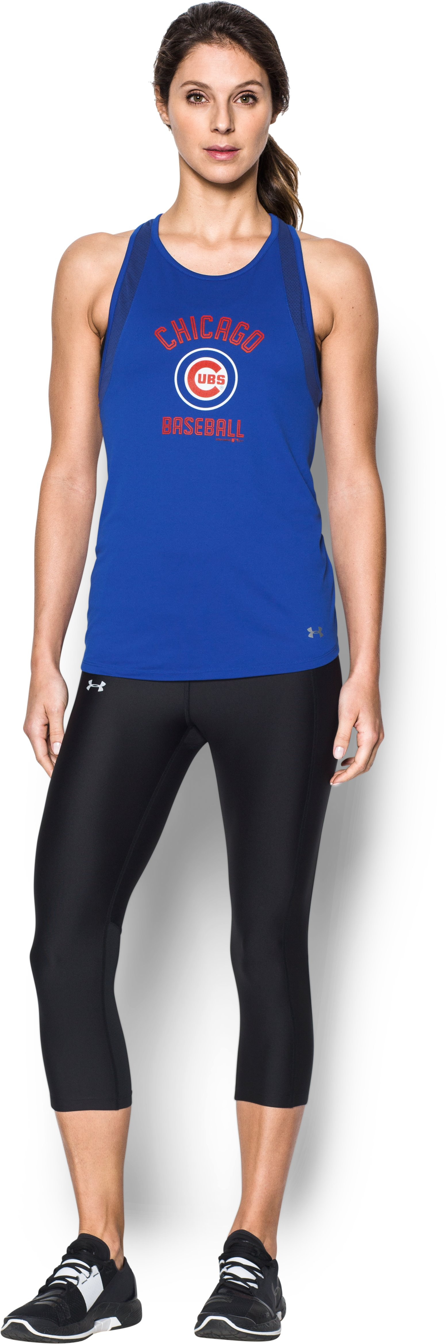 Women's Chicago Cubs UA Tech™ Mesh Tank, Royal, Front
