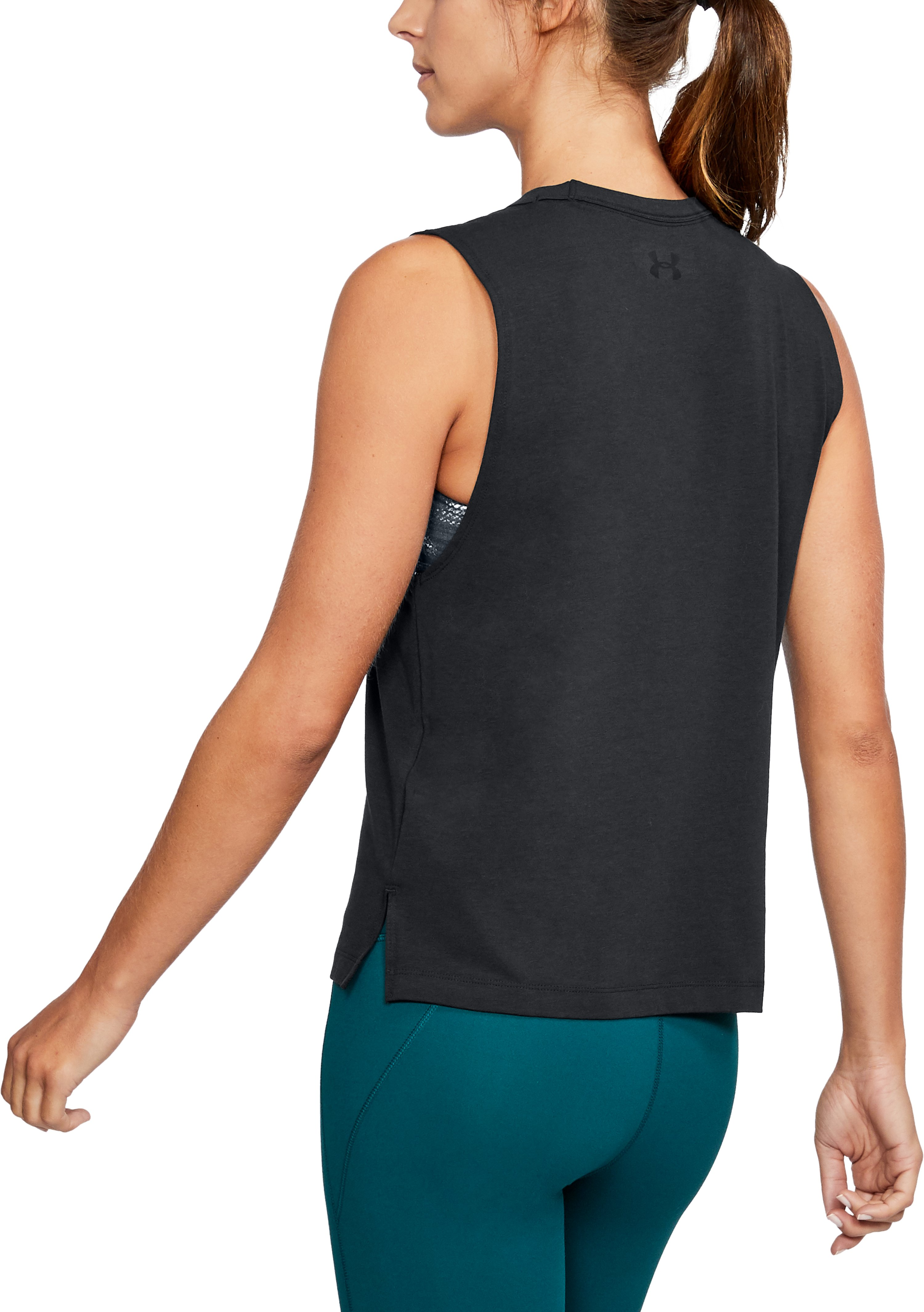 Women's UA Muscle Tank, Black ,