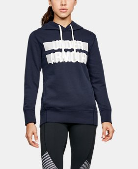Women's UA Favorite Fleece Wordmark Hoodie  3  Colors $38.99