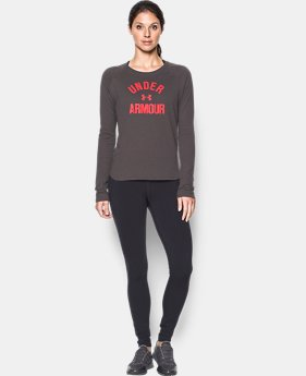 Women's UA Charged Cotton® Tri-Blend Graphic Long Sleeve  1 Color $23.99