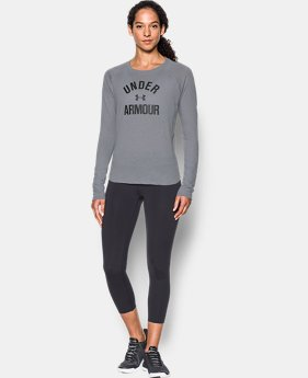 Women's UA Charged Cotton® Tri-Blend Graphic Long Sleeve  4 Colors $44.99