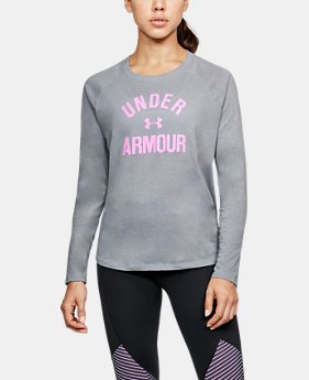 Women's UA Charged Cotton® Tri-Blend Graphic Long Sleeve  4 Colors $39.99