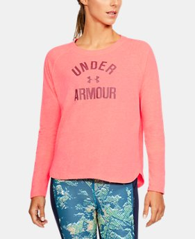Women's UA Charged Cotton® Tri-Blend Graphic Long Sleeve  1 Color $44.99