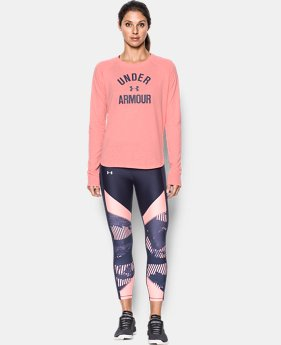New to Outlet Women's UA Charged Cotton® Tri-Blend Graphic Long Sleeve  1 Color $29.99
