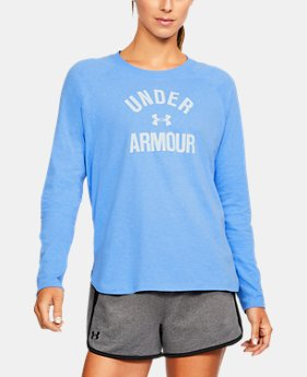 Women's UA Charged Cotton® Tri-Blend Graphic Long Sleeve  1 Color $33.74