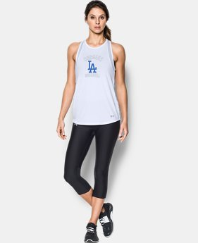 Women's Los Angeles Dodgers UA Tech™ Mesh Tank LIMITED TIME: FREE U.S. SHIPPING 1  Color Available $32.99