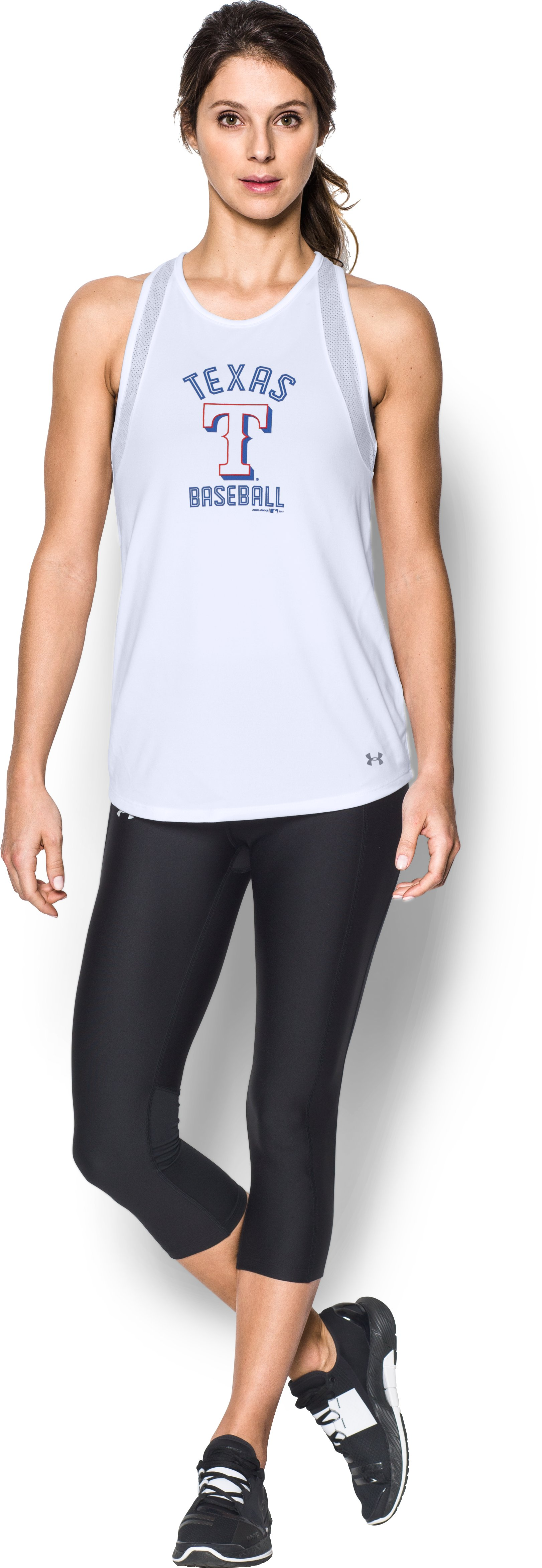 Women's Texas Rangers UA Tech™ Mesh Tank, White