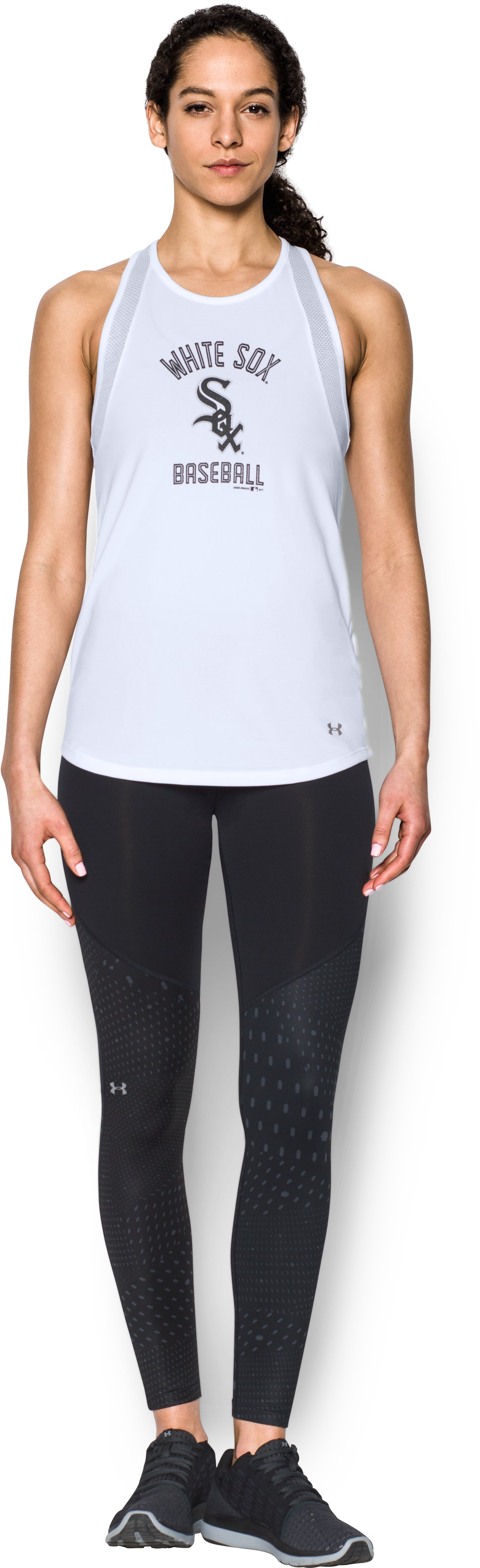 Women's Chicago White Sox UA Tech™ Mesh Tank, White, Front