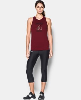 New to Outlet Women's Arizona Diamondbacks UA Tech™ Mesh Tank  1 Color $23.99