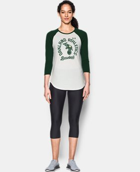 Women's Oakland Athletics ¾ Sleeve T-Shirt  1 Color $26.99