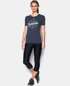 New Arrival Women's New York Yankees UA Charged Cotton® Tri-Blend T-Shirt  1 Color $34.99
