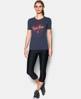 New to Outlet Women's Boston Red Sox UA Charged Cotton® Tri-Blend T-Shirt  1 Color $24.99