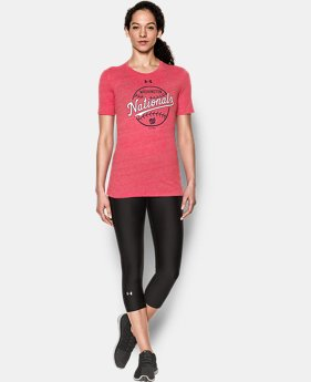 New Arrival Women's Washington Nationals UA Charged Cotton® Tri-Blend T-Shirt  1 Color $34.99