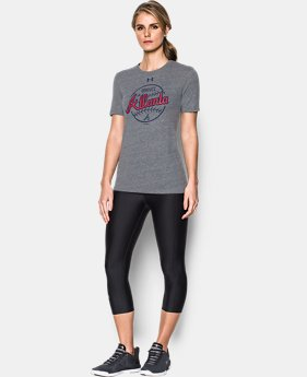 New Arrival Women's Atlanta Braves UA Charged Cotton® Tri-Blend T-Shirt  1 Color $34.99