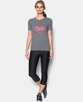 Women's Cincinnati Reds UA Charged Cotton® Tri-Blend T-Shirt  1 Color $34.99