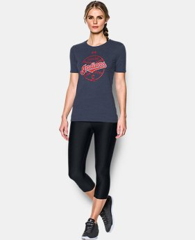 Women's Cleveland Indians UA Charged Cotton® Tri-Blend T-Shirt  1 Color $34.99