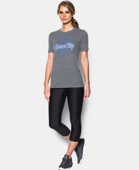 New Arrival Women's Kansas City Royals UA Charged Cotton® Tri-Blend T-Shirt  1 Color $34.99